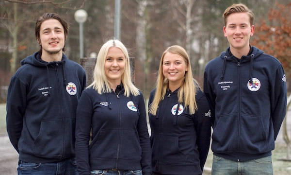 fr. v Fredrik Lindfors, Johanna Månsson, Michaela Axelsson, Fredrik Hjelmberg