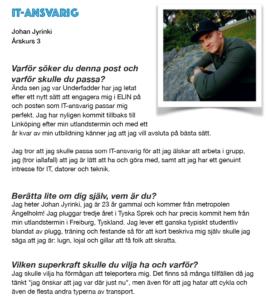 Johan Jyrinki, IT-Ansvarig